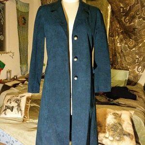 Vintage Blue Suede jacket by Abe Schrader.